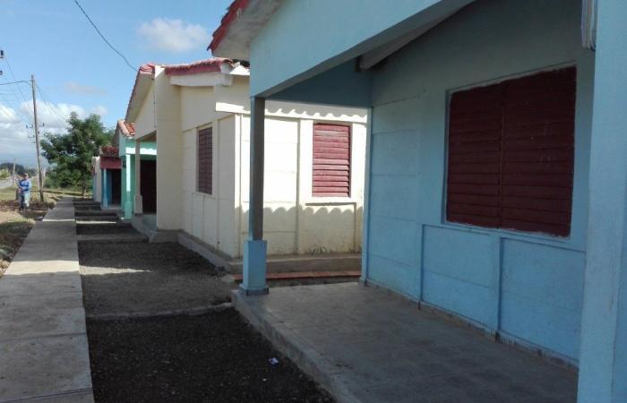 Viviendas concluidas en la comunidad de Manaca Iznaga.