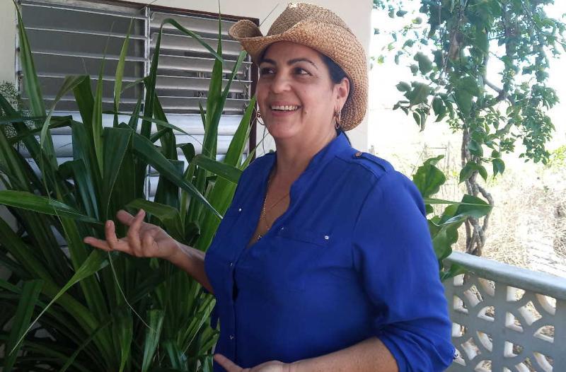 Daima Rojas vive orgullosa de ser parte de la campiña espirituana. (Foto: Lianny Pérez González/ Escambray)
