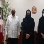 Participantes en el encuntro por parte de Cuba y Emiratos Árabes Unidos