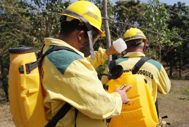 Cuerpo de Guardabosques encargado de controlar los incendios
